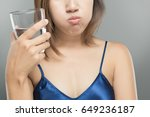 healthy happy woman rinsing and ...   Shutterstock . vector #649236187