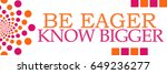 be eager know bigger pink... | Shutterstock . vector #649236277