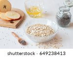ingredients for healthy... | Shutterstock . vector #649238413