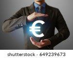 businessman with financial... | Shutterstock . vector #649239673