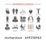 atherosclerosis. symptoms ... | Shutterstock .eps vector #649258963