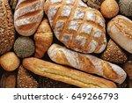 bread background  top view of... | Shutterstock . vector #649266793
