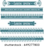 decorative set borders for... | Shutterstock .eps vector #649277803
