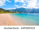 oludeniz lagoon in sea... | Shutterstock . vector #649285423