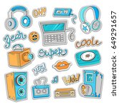 elements of patch badges in... | Shutterstock .eps vector #649291657