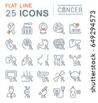 set vector line icons  sign and ... | Shutterstock .eps vector #649294573