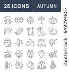 set vector line icons  sign and ... | Shutterstock .eps vector #649294807