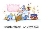 artistic watercolor hand drawn...   Shutterstock . vector #649295563