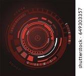 futuristic virtual graphic... | Shutterstock .eps vector #649303357