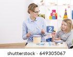 Positive Teacher With Little...