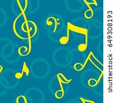 pattern notes. background music.... | Shutterstock .eps vector #649308193