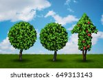 ecology and green environment... | Shutterstock . vector #649313143