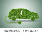 concept of green electric car | Shutterstock . vector #649316047