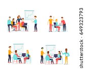 business characters. co working ... | Shutterstock .eps vector #649323793