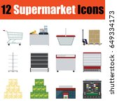 flat design supermarket icon...
