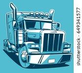 classic american truck.... | Shutterstock .eps vector #649341577