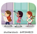 illustration of stickman kids... | Shutterstock .eps vector #649344823