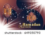 ramadan kareem greeting card....   Shutterstock .eps vector #649350793