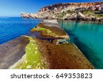malta. village popeye. | Shutterstock . vector #649353823