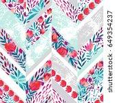 chevron seamless pattern with... | Shutterstock . vector #649354237