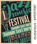 vector poster for a jazz... | Shutterstock .eps vector #649357087