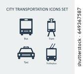 city and public transportation... | Shutterstock .eps vector #649367587