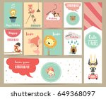 pink blue pink collection for... | Shutterstock .eps vector #649368097
