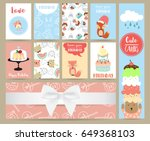 pink blue pink collection for... | Shutterstock .eps vector #649368103