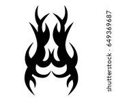 tribal tattoo art designs.... | Shutterstock .eps vector #649369687