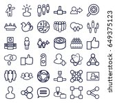 social icons set. set of 36... | Shutterstock .eps vector #649375123