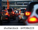 the flow of cars that drive in... | Shutterstock . vector #649386223