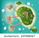 islands top view for interior... | Shutterstock .eps vector #649388467