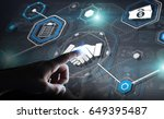 businessman on blurred...   Shutterstock . vector #649395487