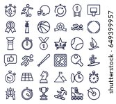 competition icons set. set of... | Shutterstock .eps vector #649399957