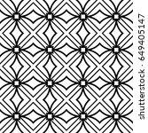 romantic geometric floral... | Shutterstock .eps vector #649405147