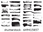 big set of vector black pen ink ... | Shutterstock .eps vector #649415857