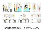 work at pharmacy laboratory. | Shutterstock .eps vector #649422697