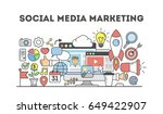 social media marketing. | Shutterstock .eps vector #649422907