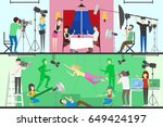 film production set. | Shutterstock .eps vector #649424197