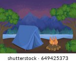 camping in the nature. | Shutterstock .eps vector #649425373