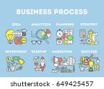 business process illustration. | Shutterstock .eps vector #649425457