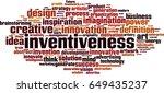 inventiveness word cloud... | Shutterstock .eps vector #649435237