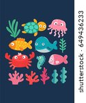 vector illustration with... | Shutterstock .eps vector #649436233