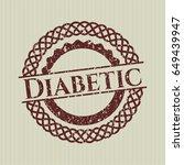 red diabetic rubber grunge seal   Shutterstock .eps vector #649439947