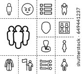 user icon. set of 13 outline... | Shutterstock .eps vector #649441237