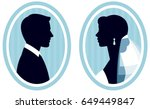 portrait of a silhouette of the ... | Shutterstock .eps vector #649449847