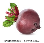 beetroot with leaves isolated... | Shutterstock . vector #649456267