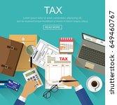 analysis of financial report... | Shutterstock .eps vector #649460767