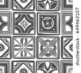 decorative tile pattern design. ... | Shutterstock .eps vector #649463107