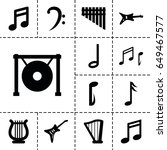 melody icon. set of 13 filled...   Shutterstock .eps vector #649467577